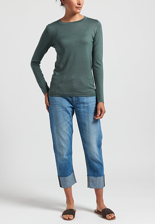 Brunello Cucinelli Crew Neck Sweater in Sage