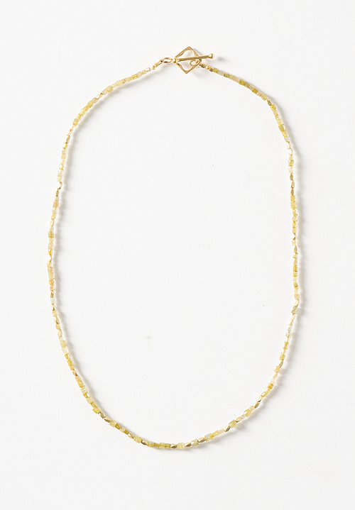 Karen Melfi 18K, Polished Diamond Necklace