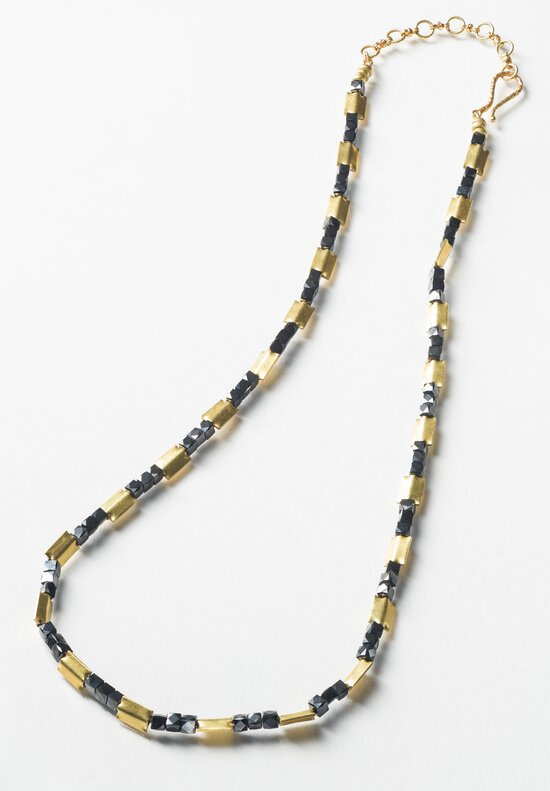 Karen Melfi 18K, Faceted Black Diamond Necklace