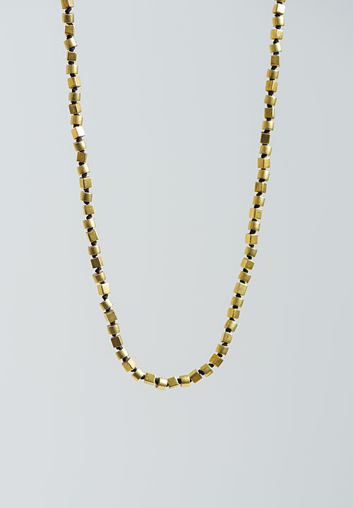 Karen Melfi 18K, Cube & Tube Necklace