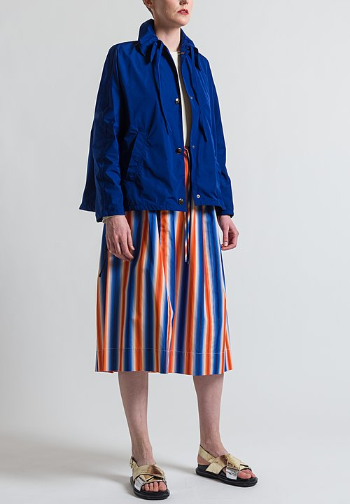 Marni Lightweight Parka Jacket in Ocean