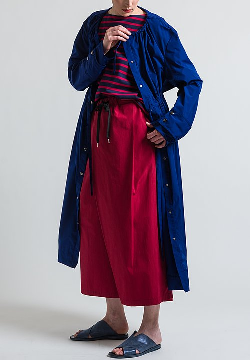 Marni Lightweight Long Parka Dress Jacket in Ocean
