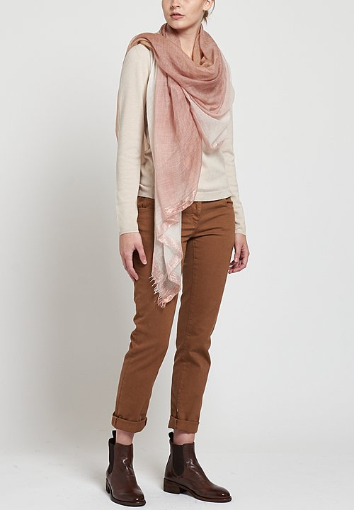 Faliero Sarti Saura Scarf in Pink / Brown