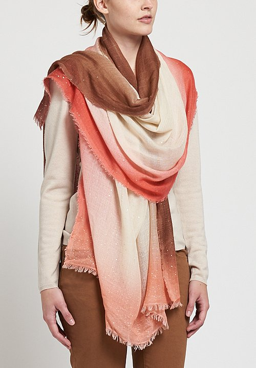 Faliero Sarti Forvalery Scarf in Pink / Brown