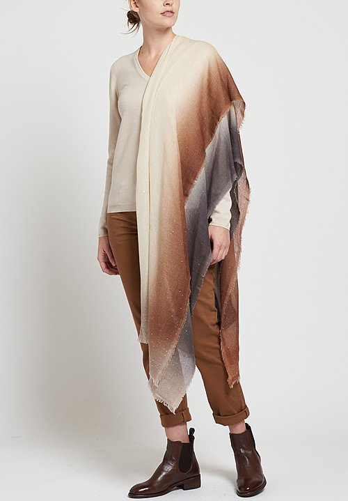 Faliero Sarti Forvalery Scarf in Brown / Smoke