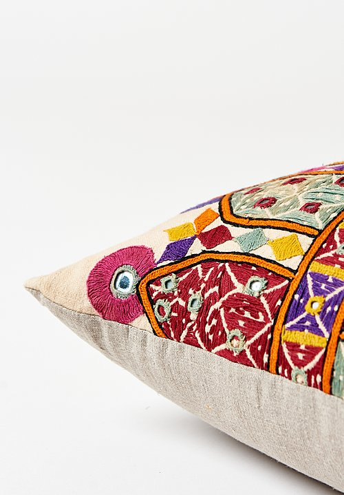 Wide Indian Camel Sack Lumbar Pillow