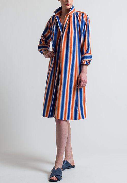 Marni Degrade Stripe Polo Neck Tunic in Alkekengi