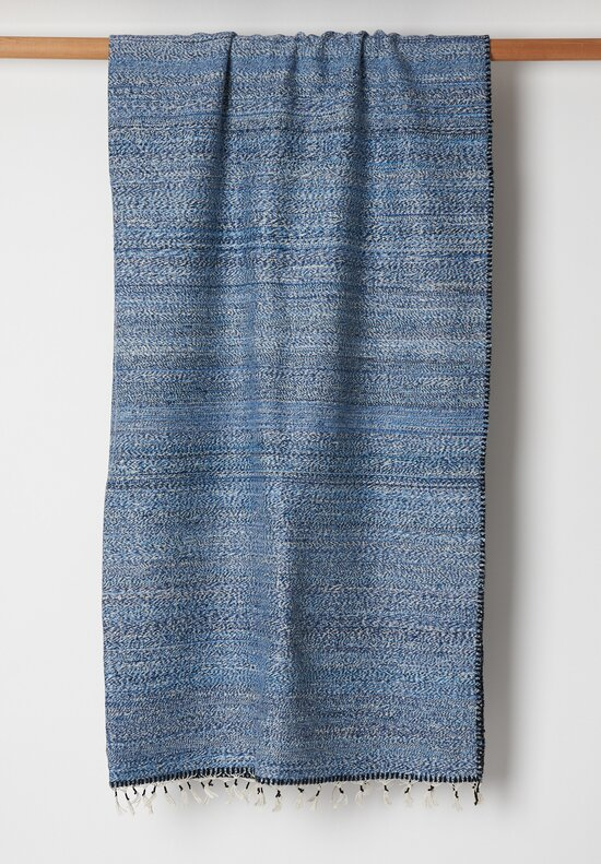 Umrao Cashmere/ Silk 8-Ply Twisted Yarn Throw