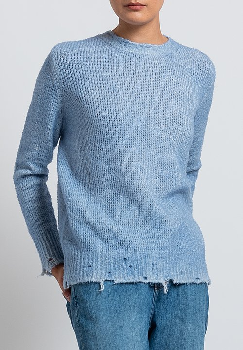 Avant Toi Destroyed Knit in Blue