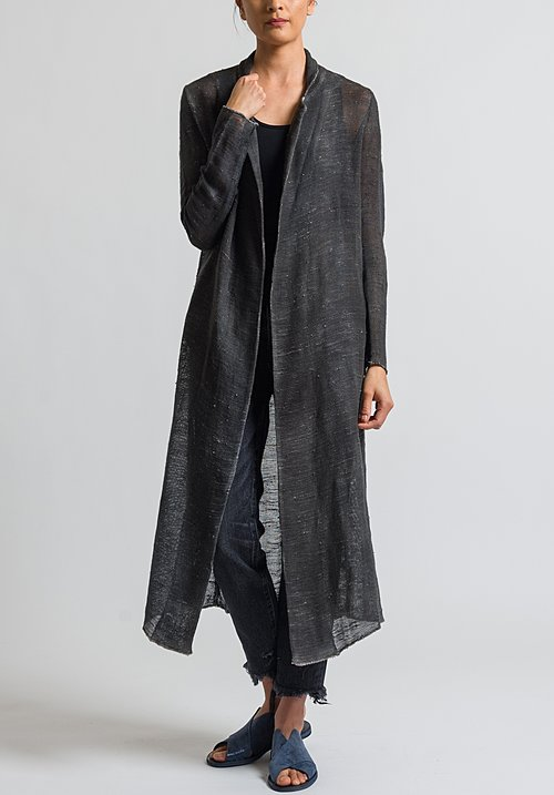 Avant Toi Long Mesh Jacket in Nero/ Radice