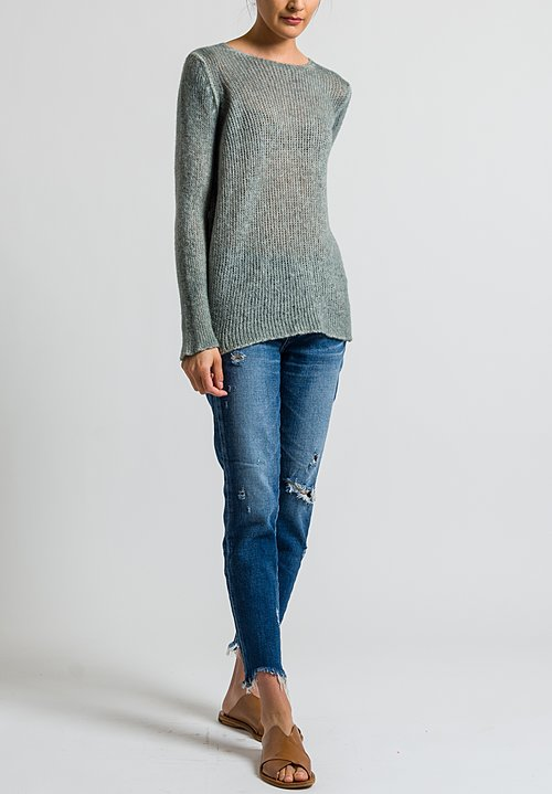 Avant Toi Loose Knit Relaxed Sweater in Salice