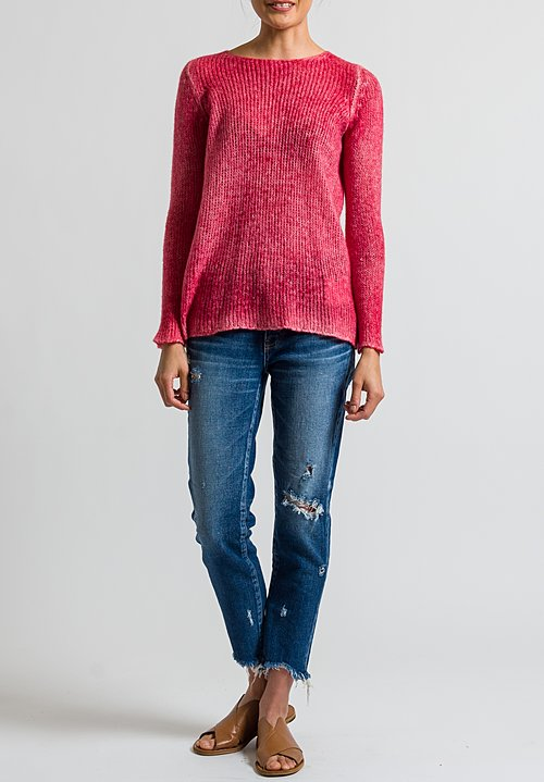 Avant Toi Relaxed Loose Knit Sweater in Melograno