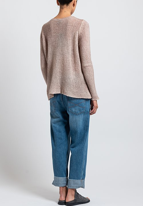 Avant Toi Loose Knit Sweater in Pink