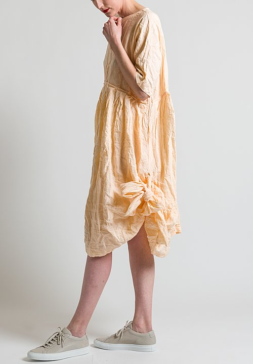 Daniela Gregis Washed Worker Dress in Peach