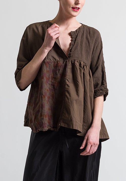 Daniela Gregis Washed Cotton/ Linen Ricetta Top