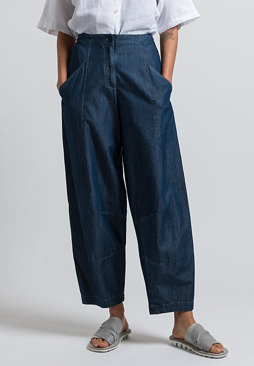 Oska Denim Gawa Pants in Blue