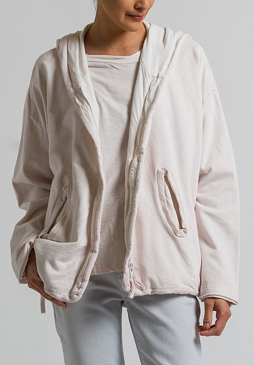 Rundholz Black Label Multi-Zipper Hooded Jacket in Rose
