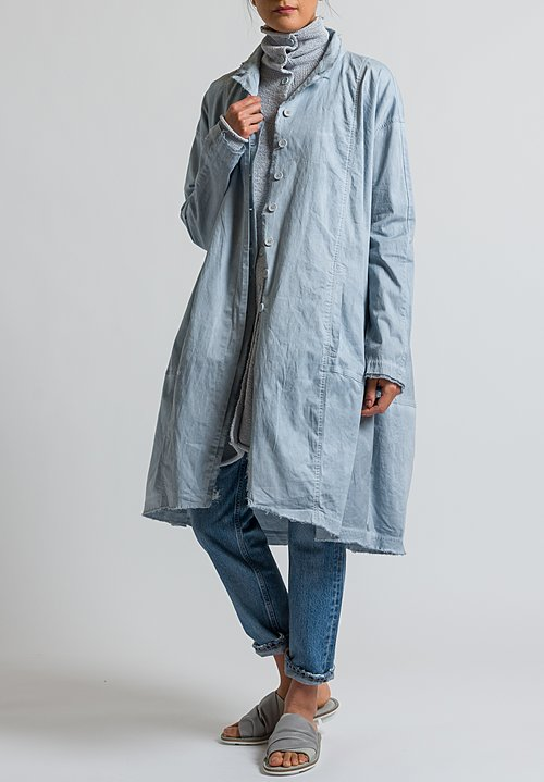 Rundholz Black Label Oversized Lightweight Coat in Grey