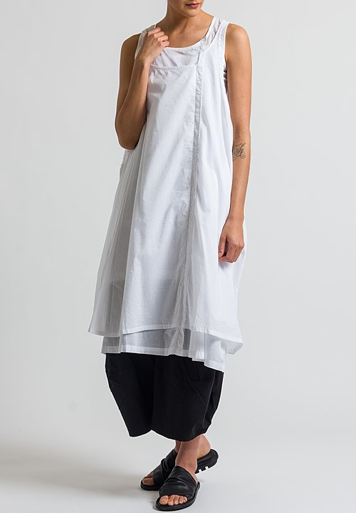 Rundholz Black Label Double Layer Tank Dress in White