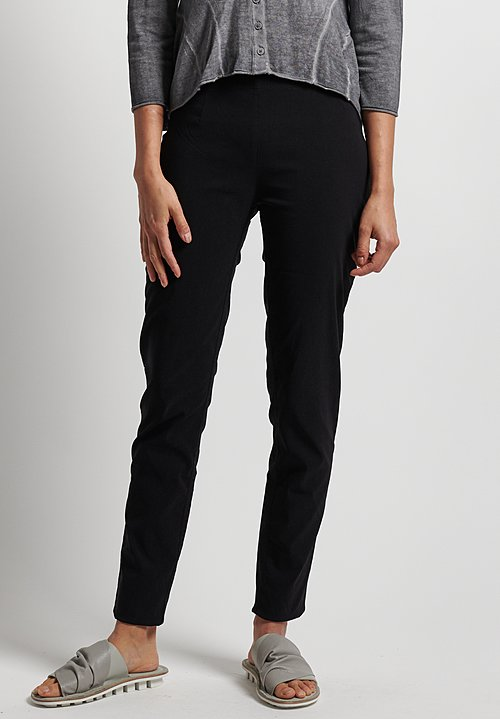 Rundholz Black Label Stretch Fitted Pants in Black