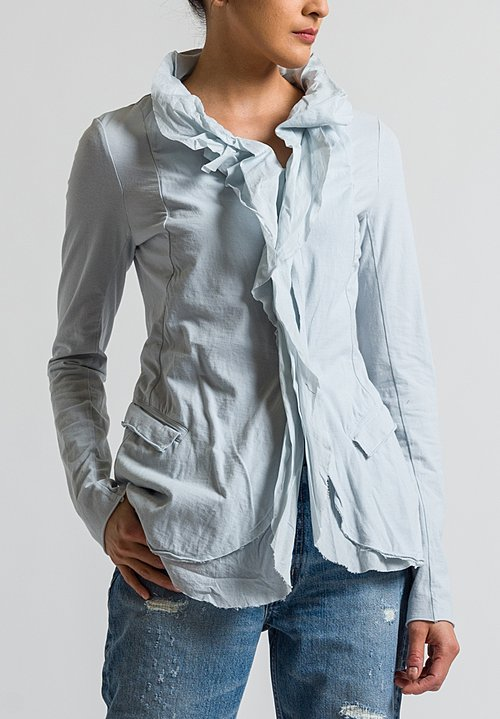 Rundholz Black Label Ruffle Front Jacket in Grey