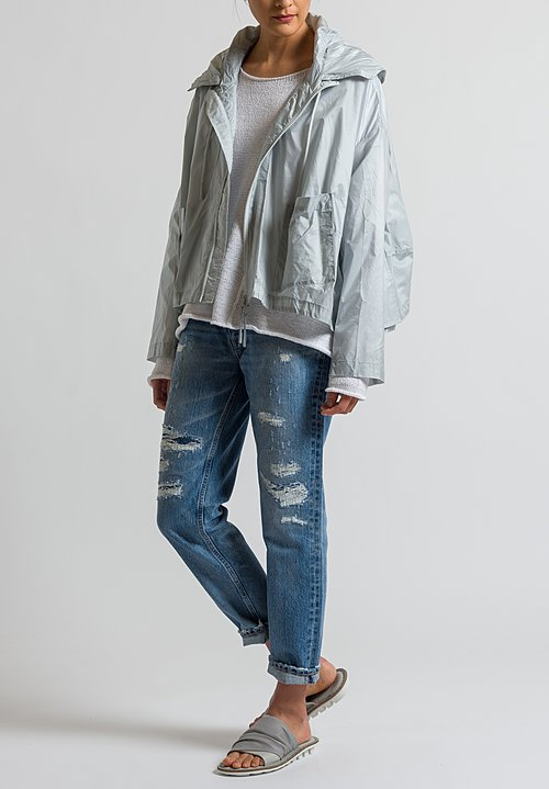 Rundholz Black Label Short Wind Breaker in Grey