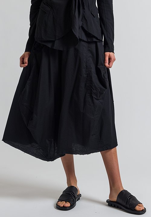 Rundholz Black Label Ruffle Detail Skirt in Black