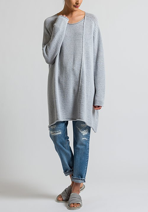 Rundholz Black Label Long Oversized Sweater in Grey