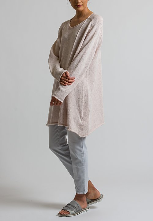 Rundholz Black Label Long Oversized Sweater in Rose