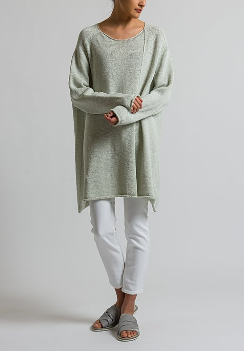 Rundholz Black Label Long Oversized Sweater in Mint