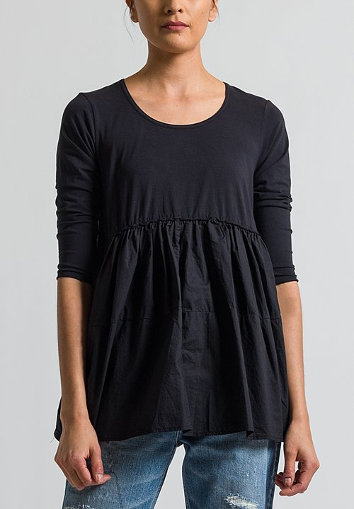 Rundholz Black Label Oversized Top in Black