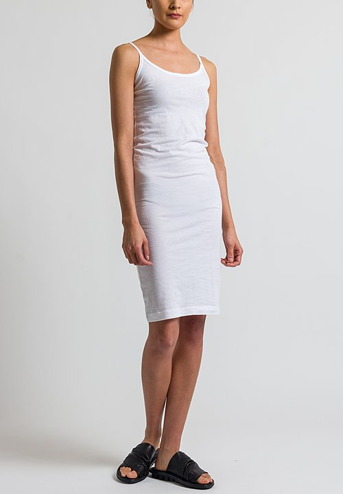Rundholz Black Label Jersey Slip Dress in White