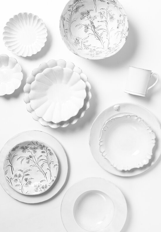 Astier de Villatte Robinson Small Soup Plate in White / Grey