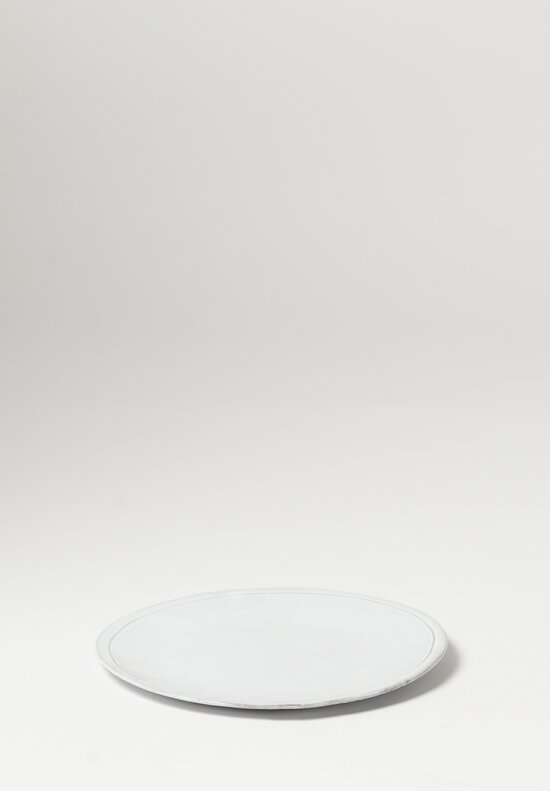 Astier de Villatte Simple Large Dinner Plate White