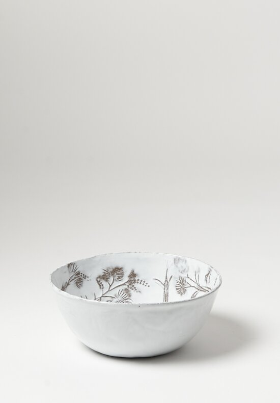 Astier de Villatte Large Robinson Salad Bowl in White / Grey