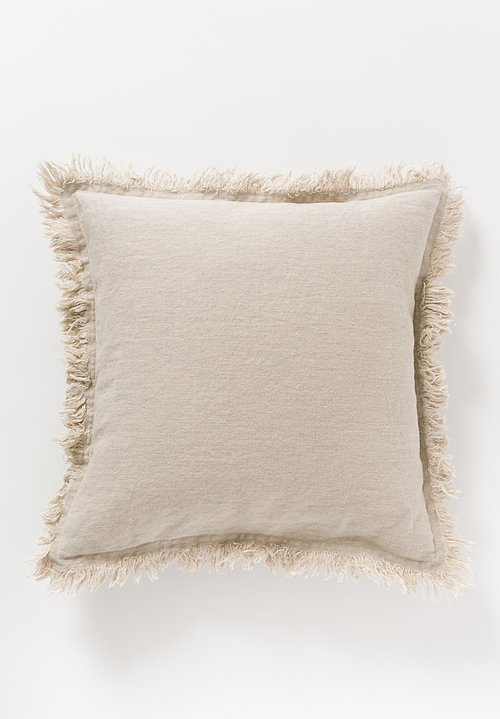 Himla Square Merlin Pillow in Natural Neutral Beige