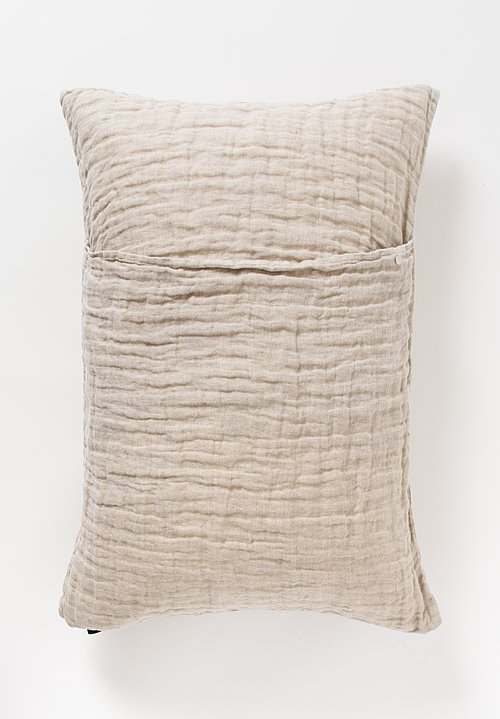 Himla Rectangular Hannelin Pillow in Natural Neutral Beige