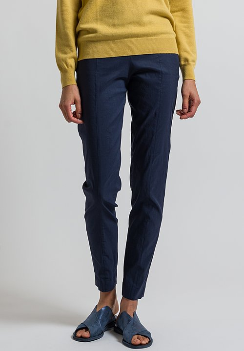 Peter O. Mahler Fitted Seam Pants in Marine