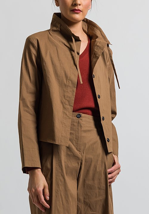 Peter O. Mahler Soft Collar Jacket in Camel