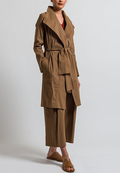 Peter O. Mahler Tie Coat in Camel
