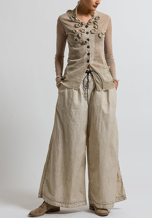 Rundholz Dip Belted Wide Leg Pants in Umbra