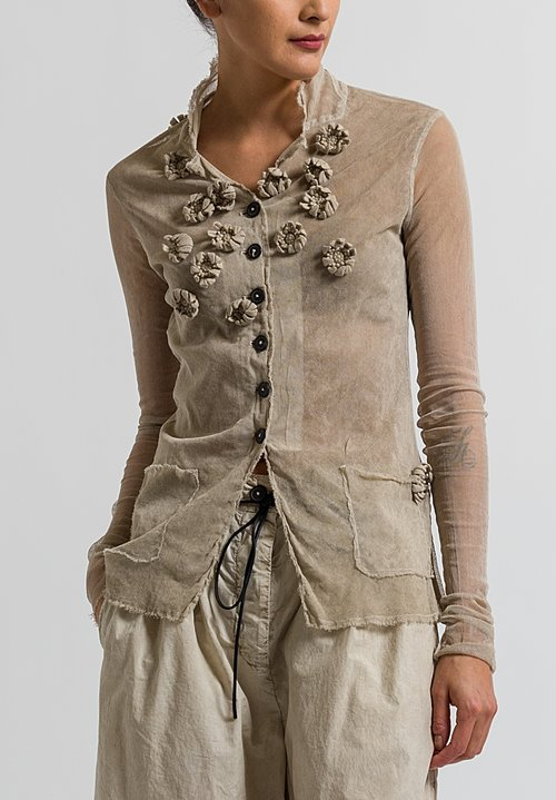 Rundholz Dip Embellished Mesh Flower Jacket in Umbra