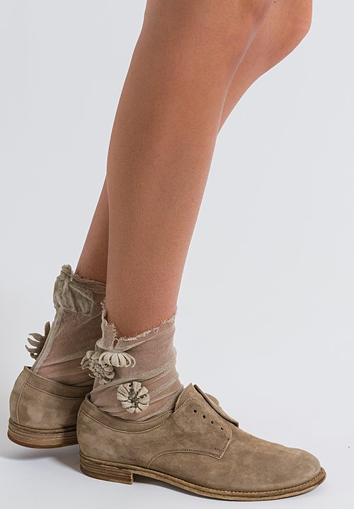 Rundholz Dip Flower Embellished Socks in Umbra