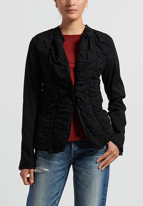 Rundholz Dip Ruched Jacket in Black