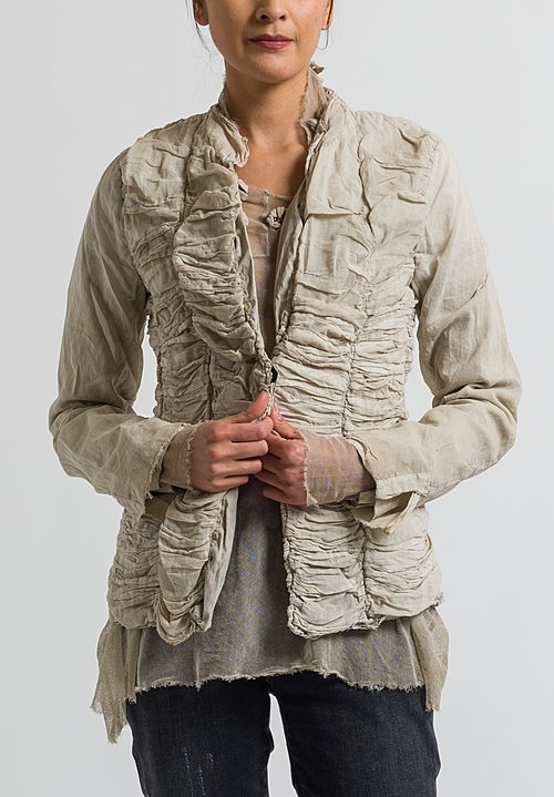 Rundholz Dip Ruched Jacket in Umbra