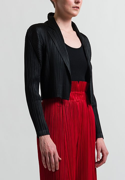 Pleats Please Mannish Short Jacket in Black