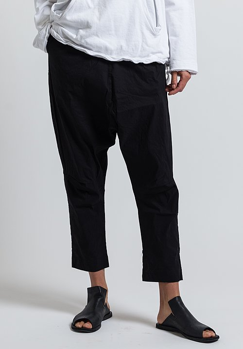 Rundholz Black Label High Rise Baggy Pants in Black