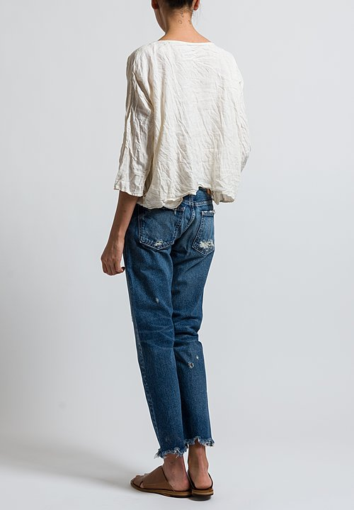 Moussy MV Kelley Tapered Leg Jeans in Mid Blue