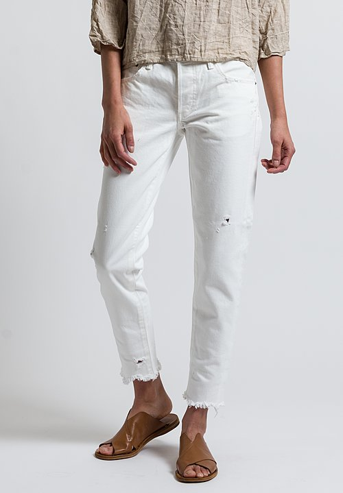 Moussy MV Kelley Tapered Leg Jeans in White