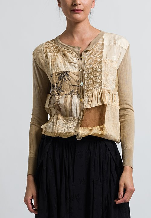 A Tentative Atelier Besant Cardigan in Mud